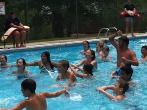 kids in a swimming pool