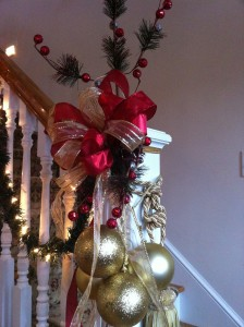 Decorated Banister for Christmas