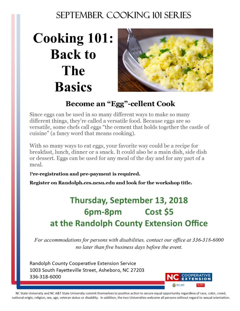 cooking 101 flyer
