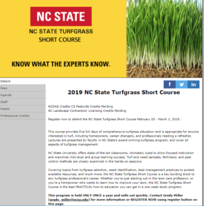 Cover photo for 2019 Turfgrass Short Course