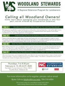 Woodland Stewards flier