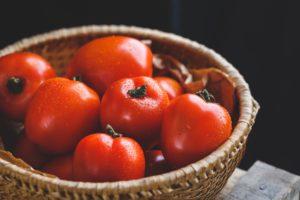 Bowl of beautiful tomatoes