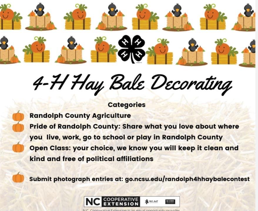 Hay Bale Decorating Contest