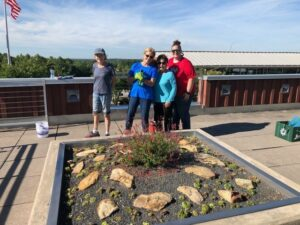 Extension Master Gardeners at the DOT Rooftop Garden.
