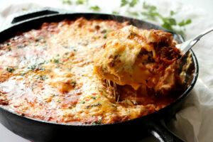 Skillet Lasagna in Cast Iron Skillet