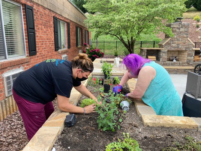 Alpine Health and Rehab Planting
