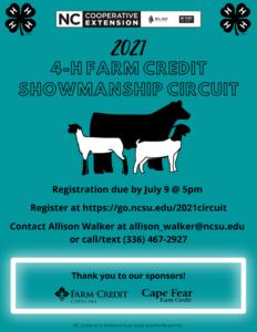 Cover photo for 2021 4-H Farm Credit Showmanship Circuit